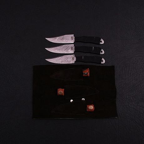Damascus Throwing Knife Set // 3 Piece Set // HK0310