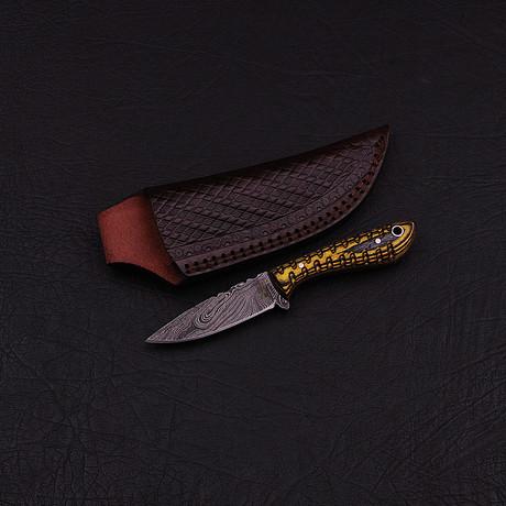 Damascus Skinner Knife // HK0308