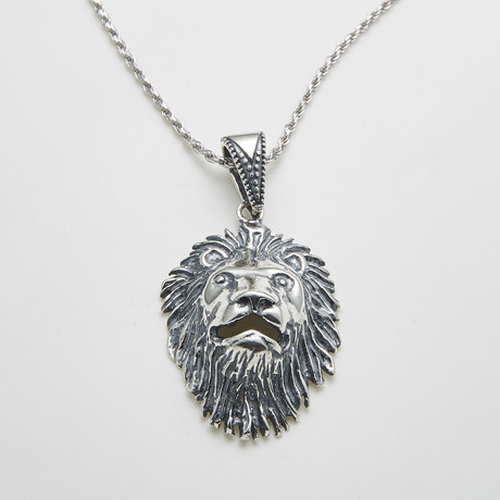 925 Solid Sterling Silver Lions Pride Necklace