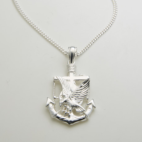 925 Solid Sterling Silver Americas Pride Necklace
