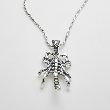 925 Solid Sterling Silver Scorpios Sting Nekclace