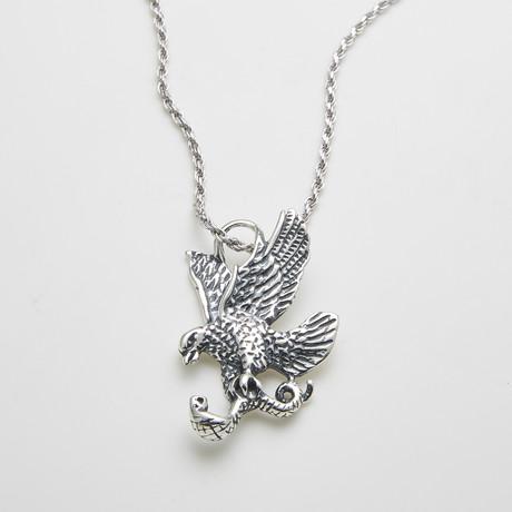 925 Solid Sterling Silver Eagles Prey Necklace
