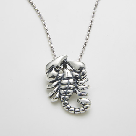 925 Solid Sterling Silver Scorpion Necklace