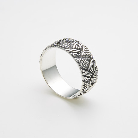 925 Sterling Silver Interwoven Braids Ring (Size 8)