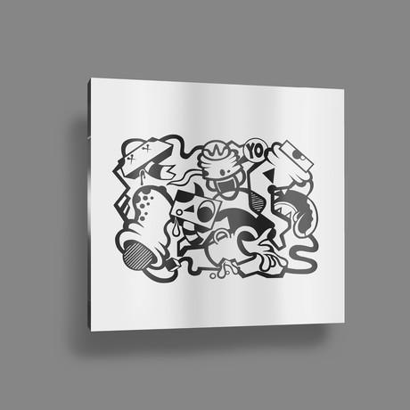 "Caffeine Fix // Black + White (20"" x 15 Paper Print)"