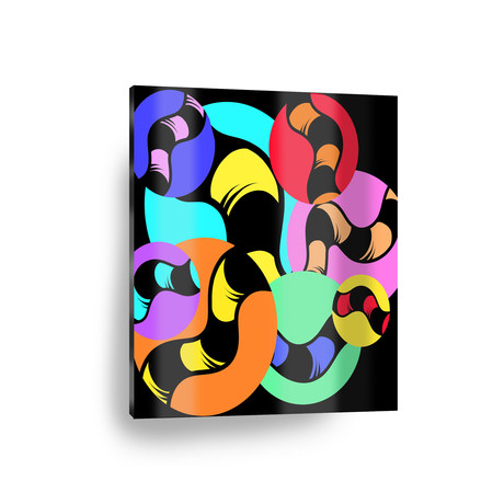 """Knotted Circles (12"""" x 12"""" Paper Print)"""