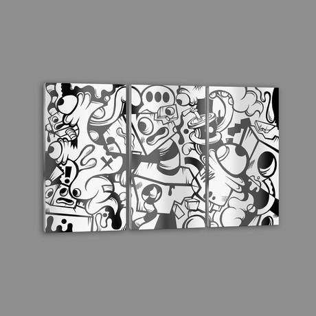 """Dot Dot Dot Triptych (18"""" x 12"""" Paper Print)"""