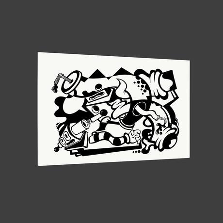 "West Coast // Black + White (18"" x 12"" Paper Print)"