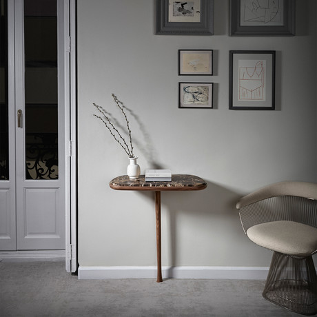 Consola Table W/ Marble Top
