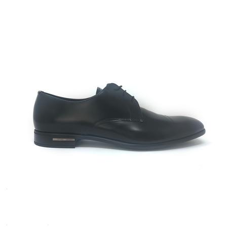 Lace-Up Derby Shoes V1 // Shiny Black (UK: 6.5)