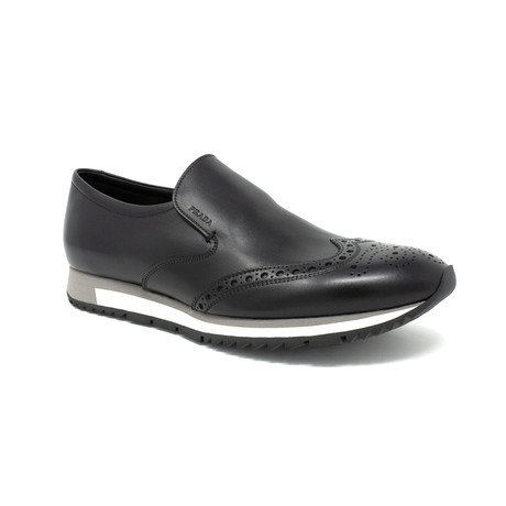 Perforated Loafer // Black (UK: 6.5)