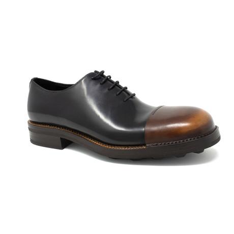 Two Toned Captoed Derby Dress Shoe // Black (UK: 6.5)