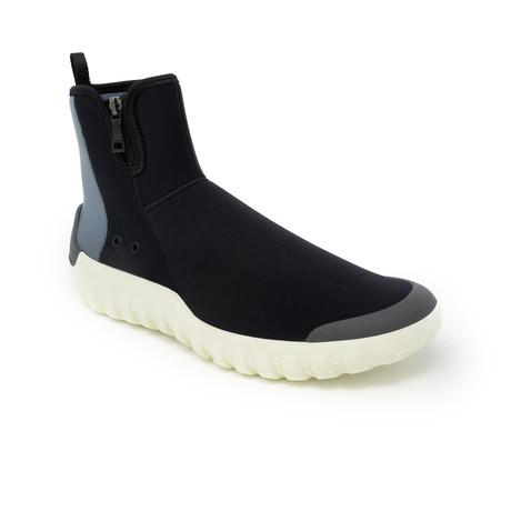 Hi-Top Zip Sneaker // Black (UK: 6.5)