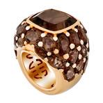 Mimi Milano 18k Rose Gold Smoky Quartz Ring // Ring Size: 7.25