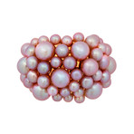Mimi Milano 18k Rose Gold Violet Cultured Pearl Ring // Ring Size: 7.5