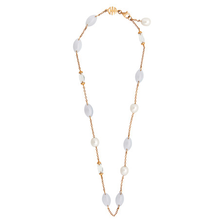 Mimi Milano 18k Rose Gold Multi-Stone Necklace I