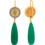 Mimi Milano 18k Two-Tone Gold Multi-Stone Earrings V