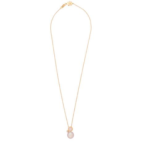 Mimi Milano 18k Rose Gold Multi-Stone Pendant Necklace II
