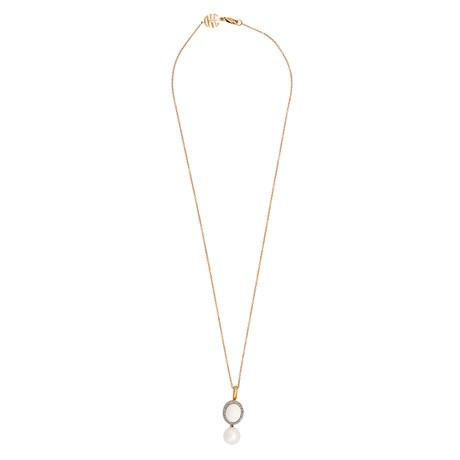 Mimi Milano 18k Two-Tone Gold Multi-Stone Pendant Necklace I
