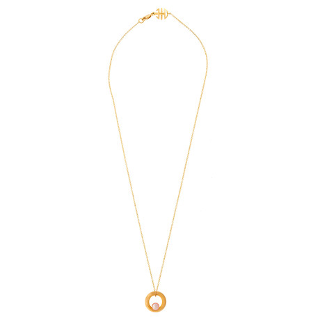 Mimi Milano 18k Rose Gold Violet Cultured Pearl Pendant Necklace I