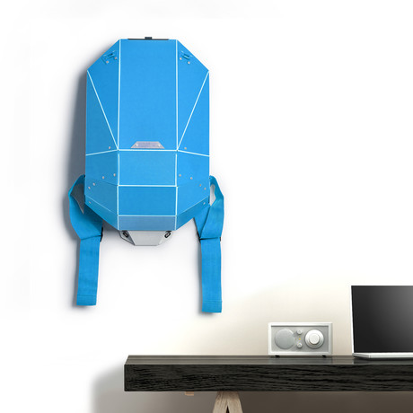 Polymer Series Backpack + Wall Mount + Back Padding // Matte Blue (Black Straps)