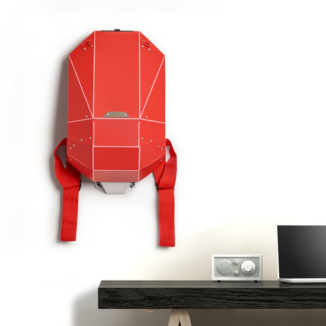 Polymer Series Backpack + Wall Mount + Back Padding // Matte Red (Black Straps)