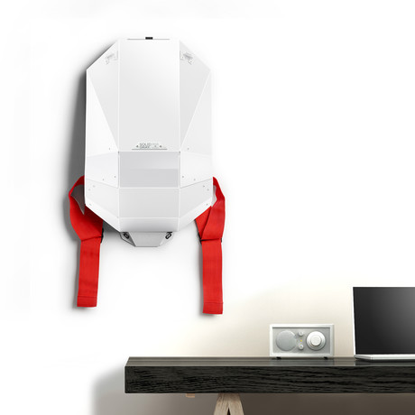Polymer Series Backpack + Wall Mount + Back Padding // Matte White (Black Straps)