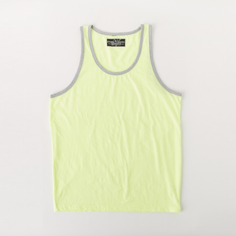 Ultra Soft Sueded Ringer Tank Top // Neon Yellow (S)