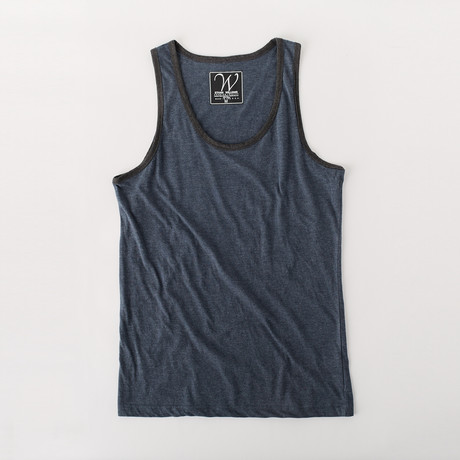 Ultra Soft Sueded Ringer Tank Top // Midnight Navy (S)