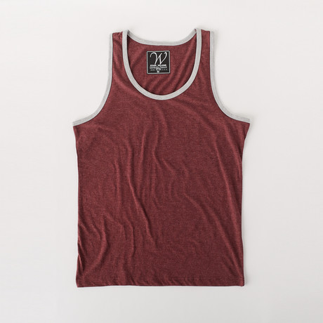Ultra Soft Sueded Ringer Tank Top // Burgundy (S)