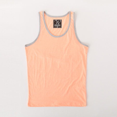 Ultra Soft Sueded Ringer Tank Top // Neon Orange (S)
