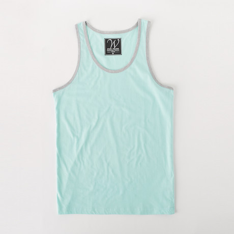 Ultra Soft Sueded Ringer Tank Top // Mint (S)