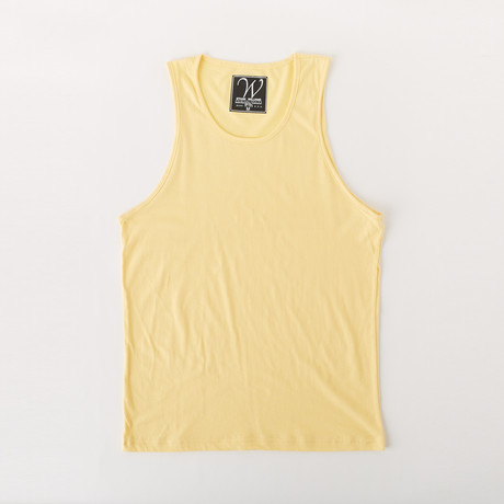 Ultra Soft Sueded Tank Top // Yellow (S)