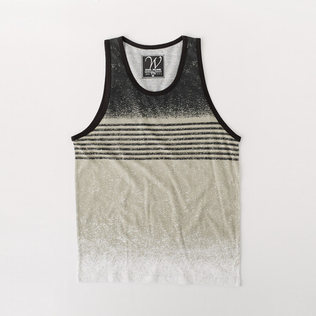 Ultra Soft Sueded Tank Top // Black Stripe (S)