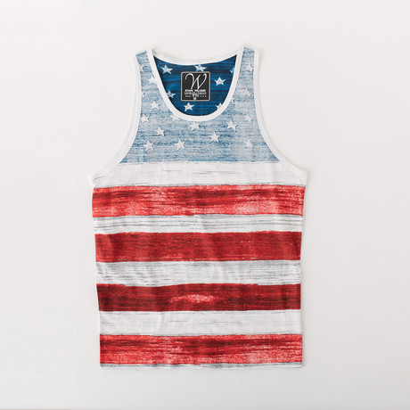 Ultra Soft Sueded Tank Top // American Flag (S)