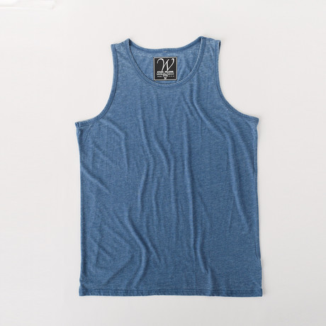 Ultra Soft Sueded Tank Top // Denim (S)