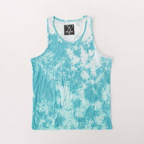 Ultra Soft Sueded Tank Top // Aqua Clouds (S)