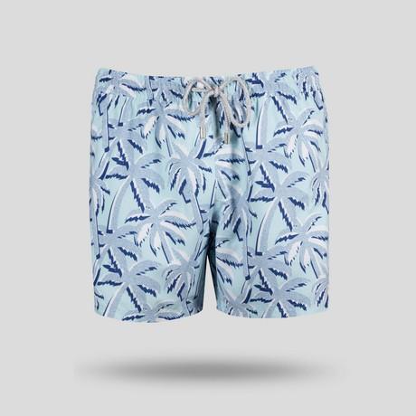 Palma Blue All Over Swim Short // Blue (S)