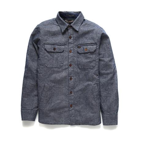Maxwell Dobby Overshirt // Navy (XS)