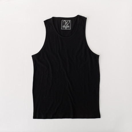 Ultra Soft Sueded Tank Top // Black (S)