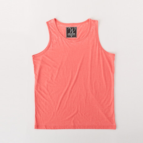 Ultra Soft Sueded Tank Top // Bubble Gum (S)