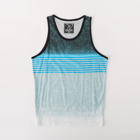 Ultra Soft Sueded Tank Top // Summer Blue Stripe (M)