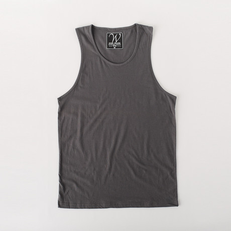 Ultra Soft Sueded Tank Top // Heavy Metal (S)