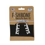 Fish Bone // Stainless Steel + 10' Paracord // 2 Pack (Black)