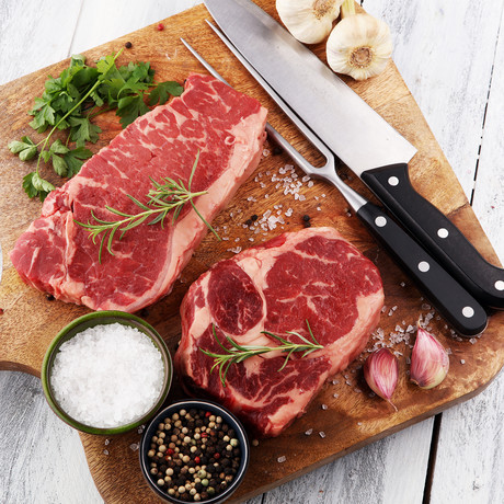 Master Chef Choice Ribeyes + Strip Grilling Package