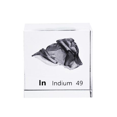 Lucite Cube // Indium
