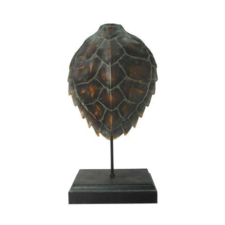 Polynesian Turtle Shell Statue (Multi-Tone)