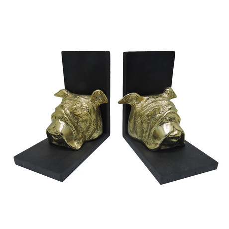 Bulldog Head Bookend