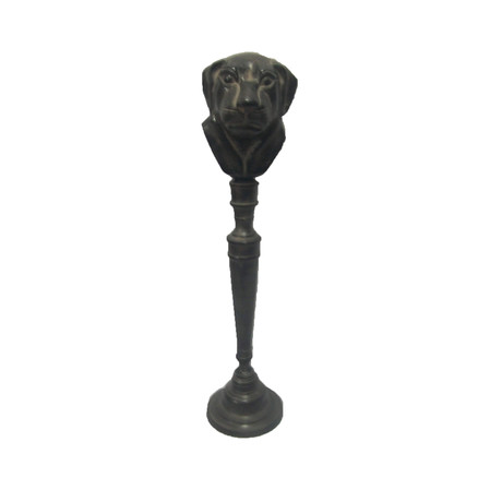 Dog Head Figure On Pedestal