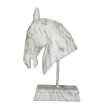 Horse Head Statue // White